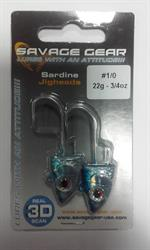 SAVAGE GEAR 3D JIG HEAD 22GR 1/0